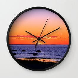 Stunning Seaside Sunset Wall Clock
