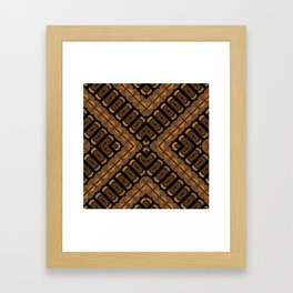Abstract 355 a bronze tone geometric Framed Art Print