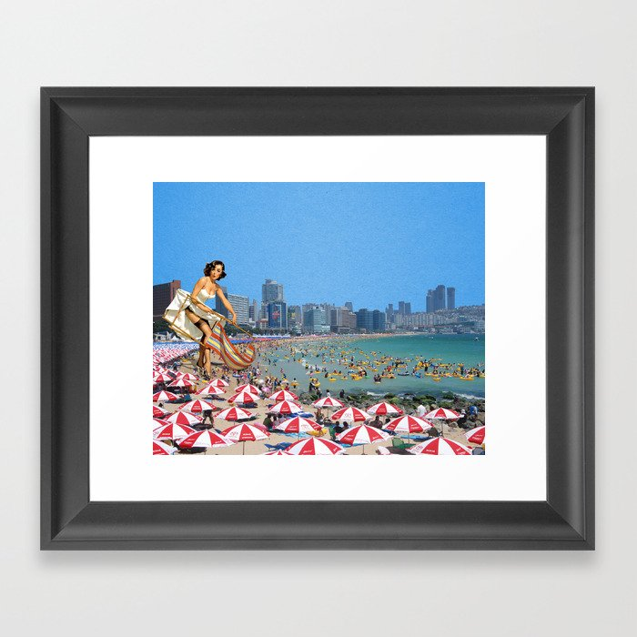 Haeundae Beach Framed Art Print