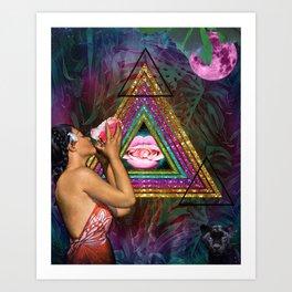 Serenade to Moon Art Print