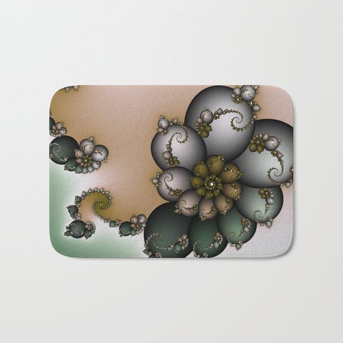 Trinket Flower Fractal Bath Mat