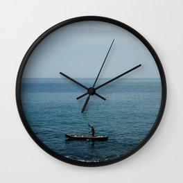 African fisherman, Sao Tome and Principe Wall Clock