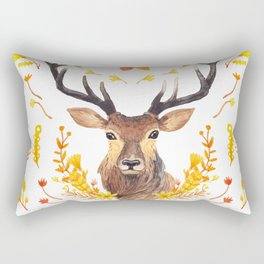 Autumn Deer Rectangular Pillow