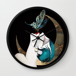 Butterfly Kiss Art Deco Remix Wall Clock