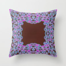 In The Pink Colorfoil Bandanna Throw Pillow