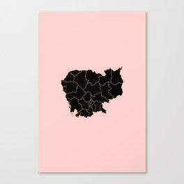 Cambodia map Canvas Print