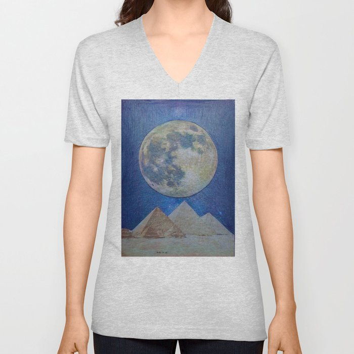 Moon Party Unisex V-Neck