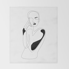 Lined pose Throw Blanket