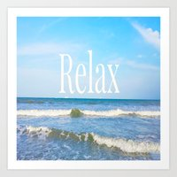 relax Art Prints featuring Relax by JuniqueStudio