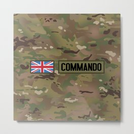 British Flag: Commando Metal Print