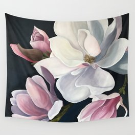 Magnolia Blooms Wall Tapestry