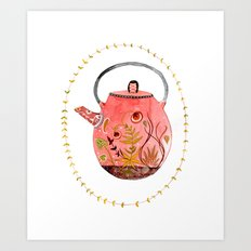 teapot terrarium Art Print