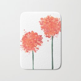 2 abstract geranium flowers Bath Mat