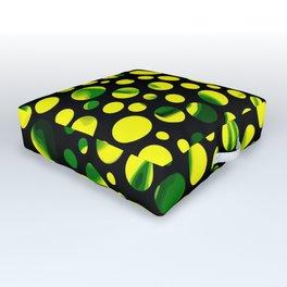 Dotty green Outdoor Floor Cushion