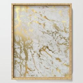 Gold marble Serving Tray