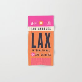 Luggage Tag A - LAX Los Angeles Hand & Bath Towel