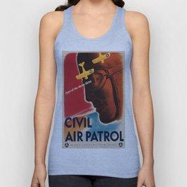 Vintage poster - Civil Air Patrol Unisex Tank Top