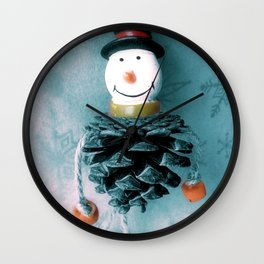 Jolly Old Snowman Wall Clock