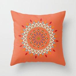 Mandala Orange Dreams Throw Pillow