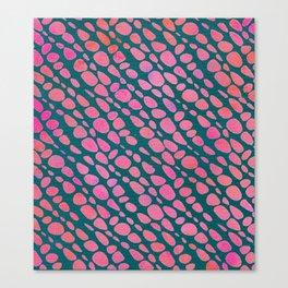 Pink Pebbles Canvas Print