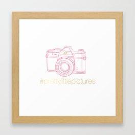 Prettylittlepictures Gold & Pink Framed Art Print