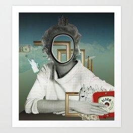 The truth is dead 23417 · Die Frau am Fenster 2 Art Print