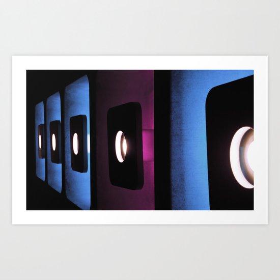 blue, blue, blue, pink, blue... Art Print
