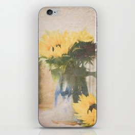 First Sunflowers of Autumn iPhone Skin