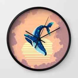 Sky Whale Wall Clock