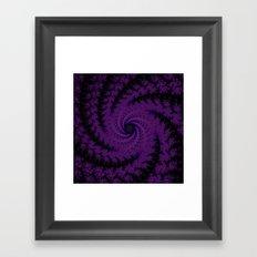 Purple Spiral Fractal Design Framed Art Print