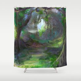 Elven Forest Shower Curtain