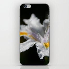 White Iris iPhone Skin