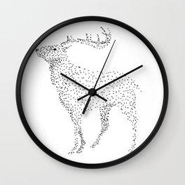 Deer dots Wall Clock