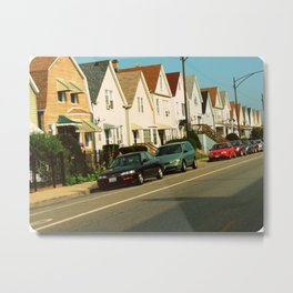 Pretty Houses In a Row ~ Chicago Metal Print