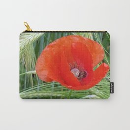 The Red Poppy in the Field Carry-All Pouch