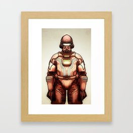 HazmatSuit Framed Art Print
