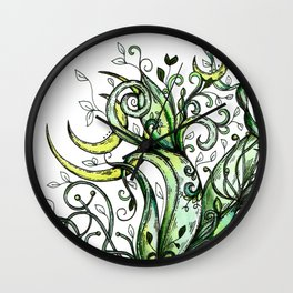 Hummingbird Garden Party Wall Clock