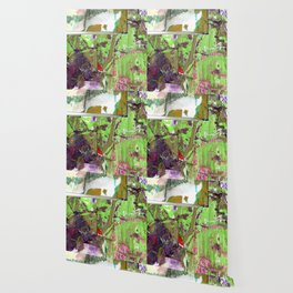 Green, Gold and Purple Boundaries Wallpaper