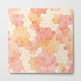 Peaches and Cream Mosaic Metal Print