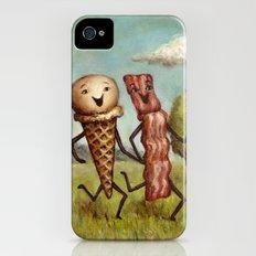 Bacon Loves Ice Cream iPhone (4, 4s) Slim Case