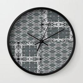 Plaid in Full (T-shirt) Wall Clock