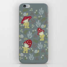 Melancholy Mushrooms iPhone & iPod Skin