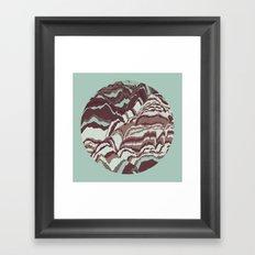 TOPOGRAPHY 002 Framed Art Print