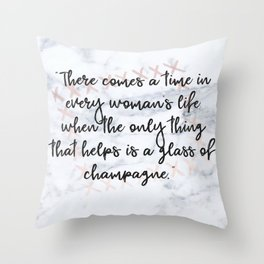 Champagne love Throw Pillow