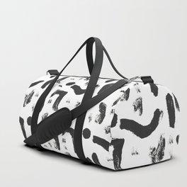 Dance Expressive Black and White Print Duffle Bag