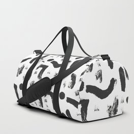 Dance Expressive Black and White Print Duffle Bag