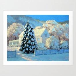 Holiday Snow Art Print