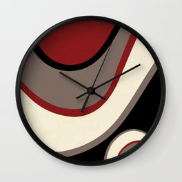 """Abstract Retro Waves"" Wall Clock"