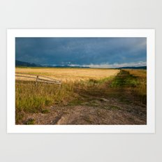 Star Valley Field Art Print