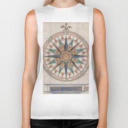 Historical Nautical Compass (1543) Biker Tank